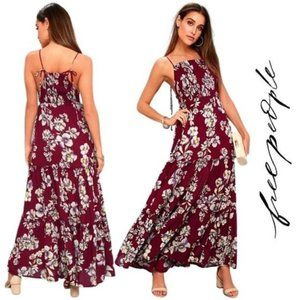 Free People NWT Floral Ruffle Tiered Maxi Dress, S